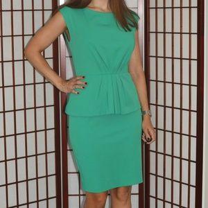 Shoshanna Green Peplum Dress